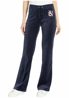 Juicy Couture Scattered Juicy Velour Logo Del Rey Pants