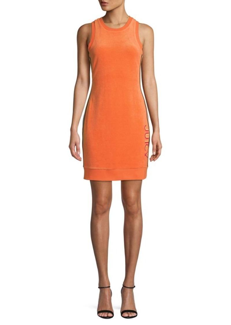 Juicy Couture Side Stripe Cotton-Blend Bodycon Dress