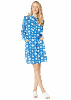 Juicy Couture Silk Marigold Floral Dress