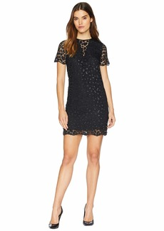 Juicy Couture Soft Woven Leopard Lace Embellished Shift Dress