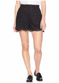 Juicy Couture Soft Woven Leopard Lace Shorts