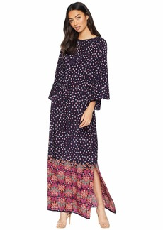 Juicy Couture Soft Woven Silk Fable Floral Maxi Dress