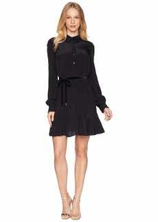 Juicy Couture Solid Silk Shirtdress