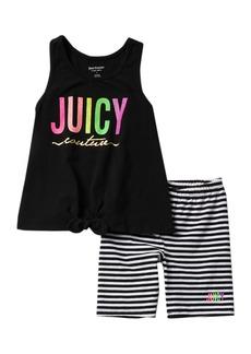 Juicy Couture Tank & Bike Shorts 2-Piece Set (Little Girls)