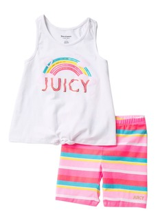 Juicy Couture Tank & Striped Shorts 2-Piece Set (Little Girls)