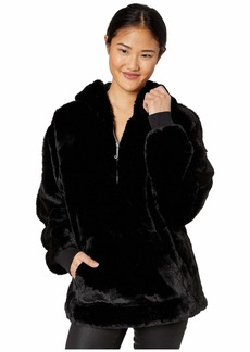 Juicy Couture Track Faux Fur Pullover with Hood