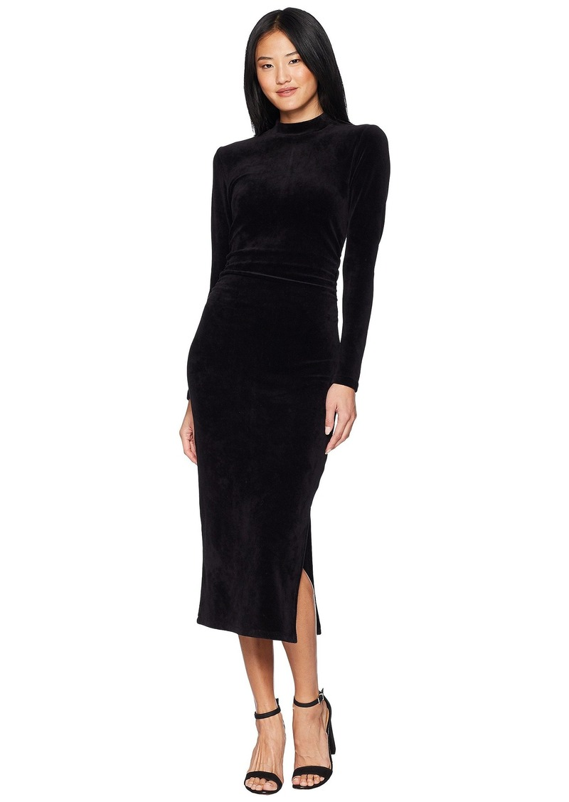735067854bad1 Juicy Couture Track Stretch Velour Mock Neck Midi Dress | Dresses