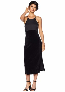 Juicy Couture Track Stretch Velour Satin Mix Dress