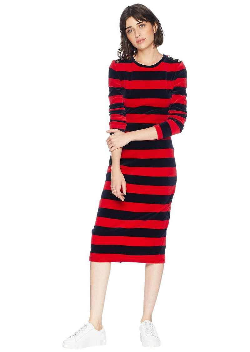 c88bbe4ee82ca On Sale today! Juicy Couture Track Stretch Velour Striped Fitted ...