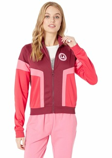 Juicy Couture Tricot Color Block Logo Track Jacket