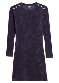 Juicy Couture Velour Dress with Embossed Buttons