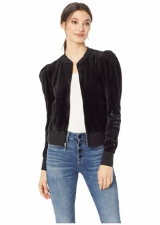 Juicy Couture Velour Puff Sleeve Jacket