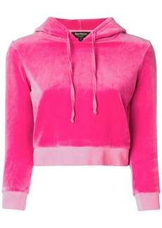 Juicy Couture velour shrunken hooded pullover