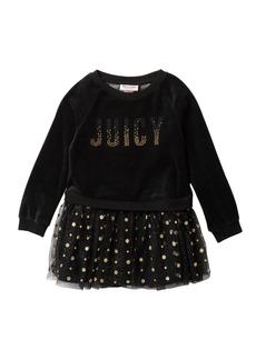 Juicy Couture Velour Sweatshirt Top & Layered Tulle Bottom Dress (Toddler Girls)