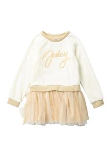 Juicy Couture Velour Sweatshirt Top & Tulle Bottom Dress (Little Girls)