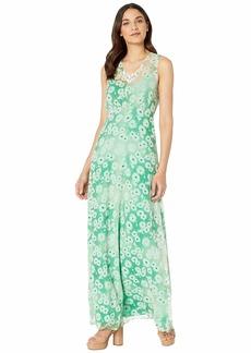 Juicy Couture Washed Daisy Sleeveless Maxi Dress