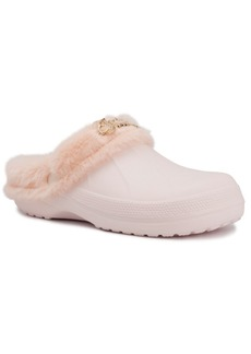 Juicy Couture Women's Cora Plush Clog Slippers Women's Shoes