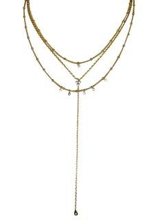 "Jules Smith Selina Lariat Necklace, 16"""