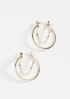 Jules Smith Twisted Huggie Earrings