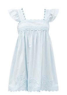 Juliet Dunn Rickrack-trim cotton-voile mini dress