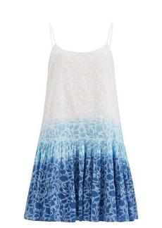 Juliet Dunn Shadow Flower-print cotton-voile mini dress