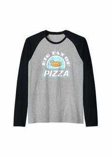 Junk Food Big Fan of Pizza Funny Food Lover T-Shirt Raglan Baseball Tee