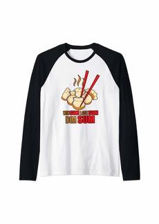 Junk Food Chinese Food - Win Sum Lose Sum Dim Sum Raglan Baseball Tee