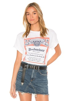 Junk Food Budweiser Label Tee