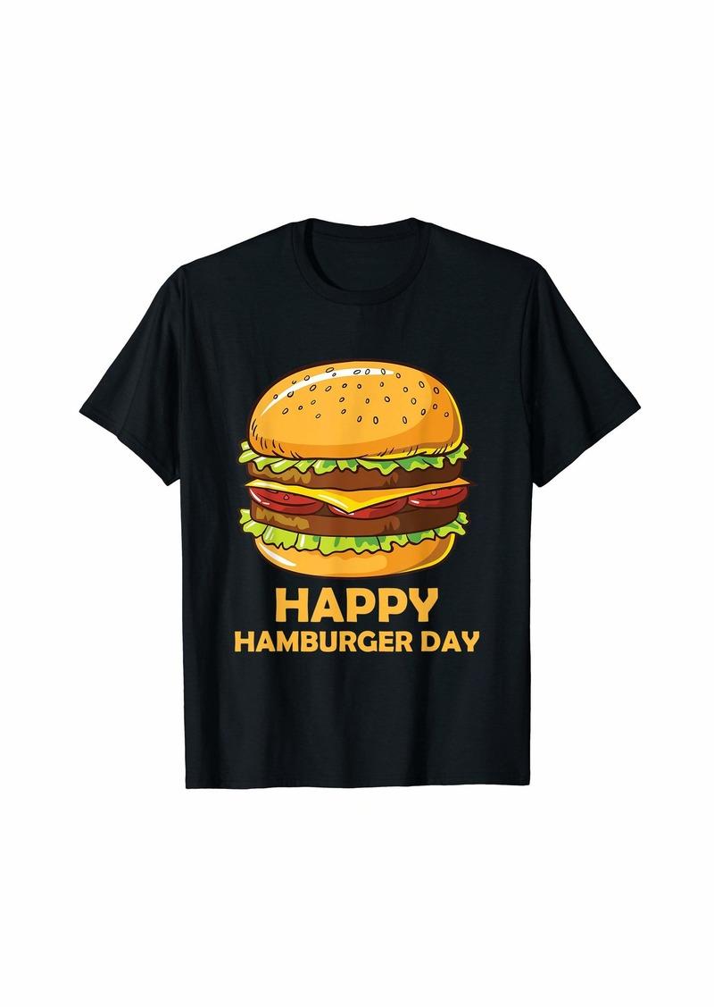 Junk Food Cheeseburger Hamburger Day Burger Fries Festival T-Shirt