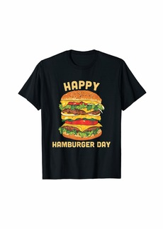 Junk Food Cheeseburger T-Shirt - Hamburger Day Burger Fries