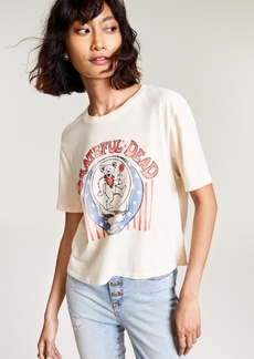 Junk Food Cotton Grateful Dead-Graphic Cropped T-Shirt