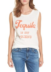 Junk Food Tequila is My Friend Muscle Tank