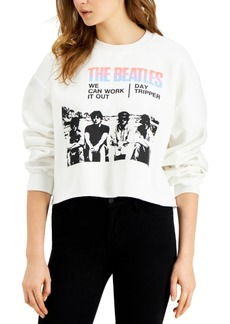 Junk Food Women's The Beatles Cotton Cropped Sweatshirt