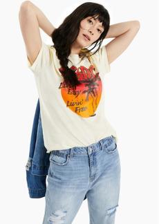 Junk Food Women's Cotton Ac/Dc-Graphic T-Shirt