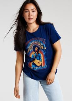 Junk Food Women's Cotton Jimi Hendrix-Graphic T-Shirt