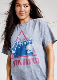 Junk Food Women's Cotton Pink Floyd-Graphic T-Shirt