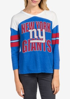 Junk Food Women's New York Giants Liberty Throwback Raglan T-Shirt