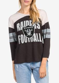 Junk Food Women's Oakland Raiders Liberty Throwback Raglan T-Shirt