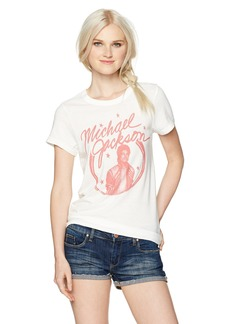 Junk Food Women's Vintage Wash Micheal Jackson Graphic Babydoll Tee