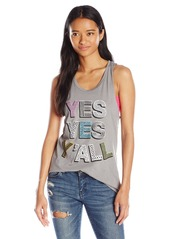 """Junk Food Women's """"Yes Yes Y'all"""" Graphic Tank Top"""