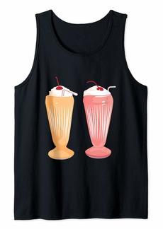 Junk Food Milkshake Lover Gift Shirt - I Love My Milkshakes Tank Top