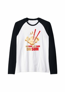 Junk Food Win Sum Lose Sum Dim Sum Chinese Food Raglan Baseball Tee