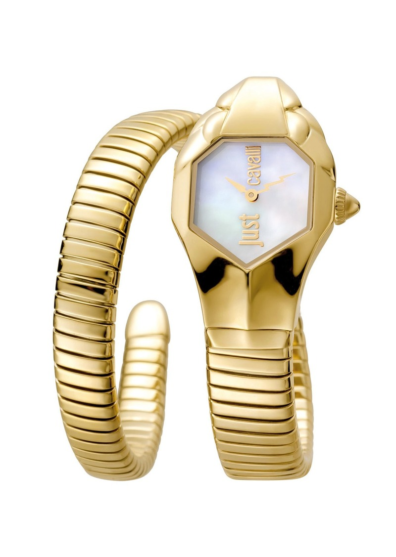 Just Cavalli 22mm Glam Chic Coiled Snake Bracelet Watch