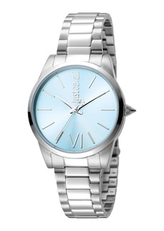 Just Cavalli 32mm Relaxed Watch w/ Bracelet Strap  Blue Dial