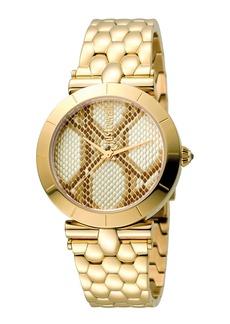Just Cavalli 34mm Animal Devore Bracelet Watch