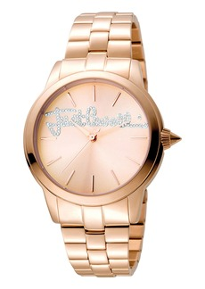Just Cavalli 36mm Logo Mohair Bracelet Watch