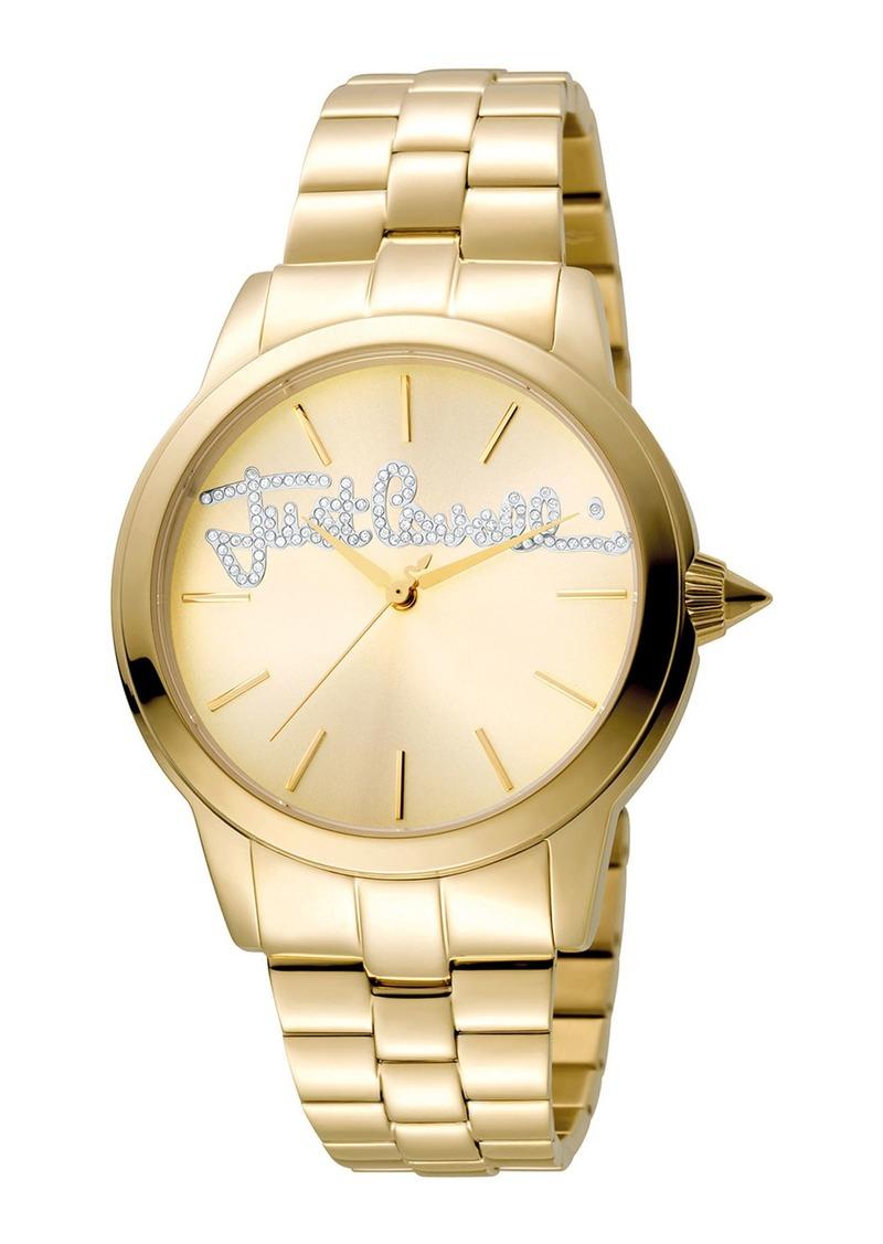 Just Cavalli 36mm Logo Watch w/ Bracelet  Golden