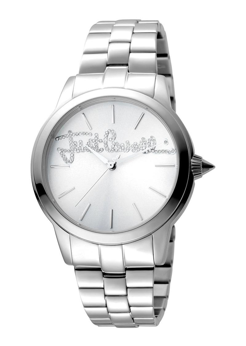 Just Cavalli 36mm Logo Watch w/ Bracelet  Steel