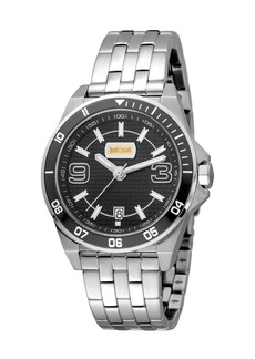 Just Cavalli 40mm Men's Stainless Steel Chronograph Watch  Black