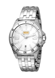 Just Cavalli 40mm Men's Stainless Steel Chronograph Watch  Silver